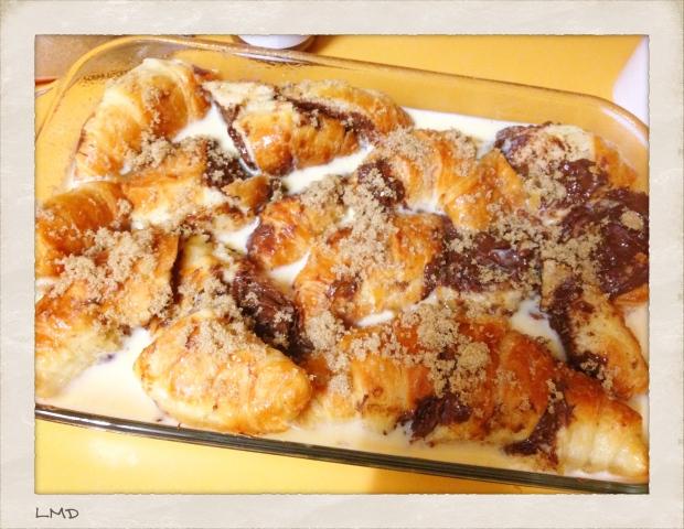 Yummy Custard & Choc Hazelnut BakedCroissants